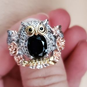 Owl s925 beautiful ring size  8